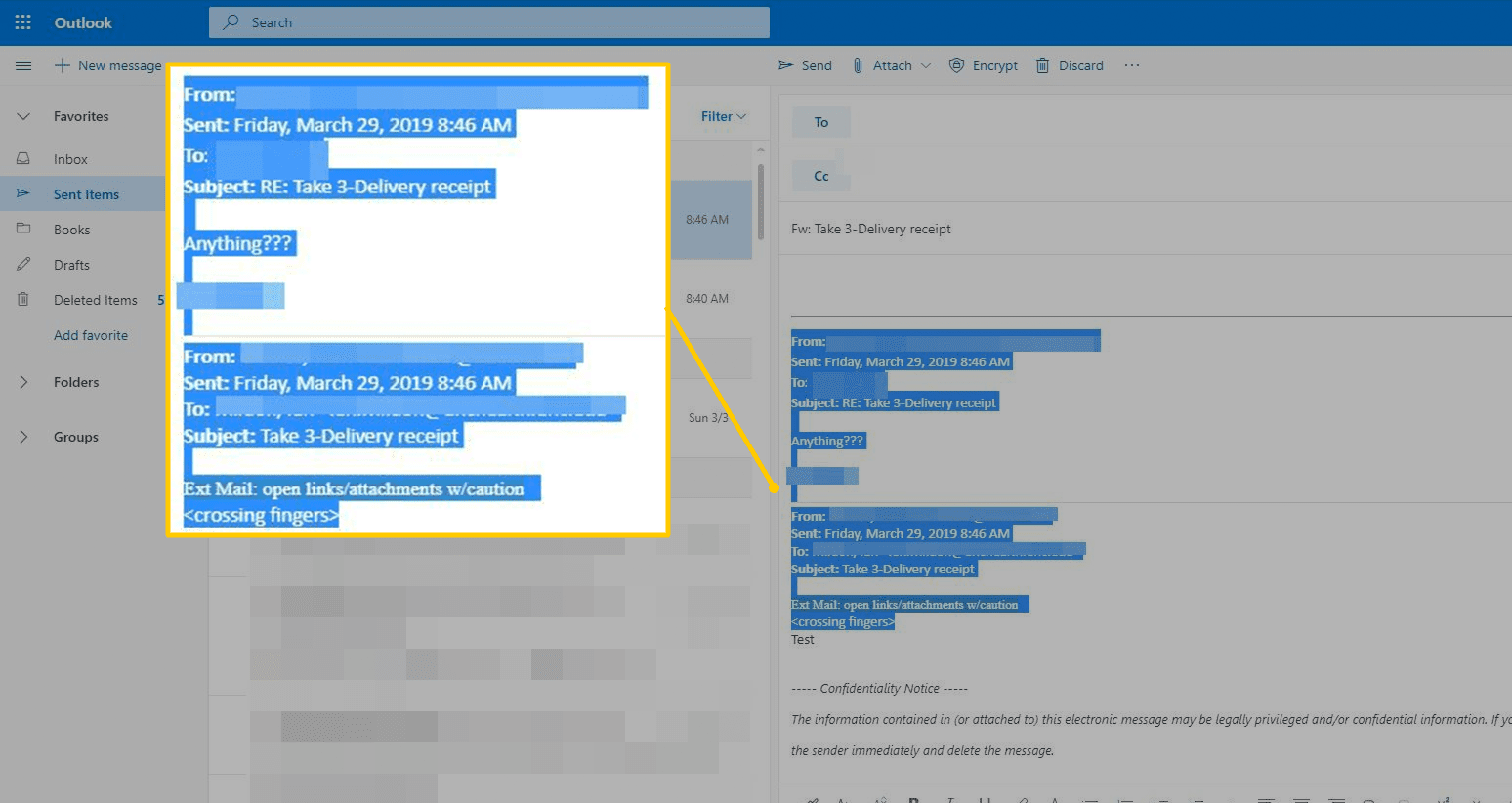 Email body text to remove in Outlook
