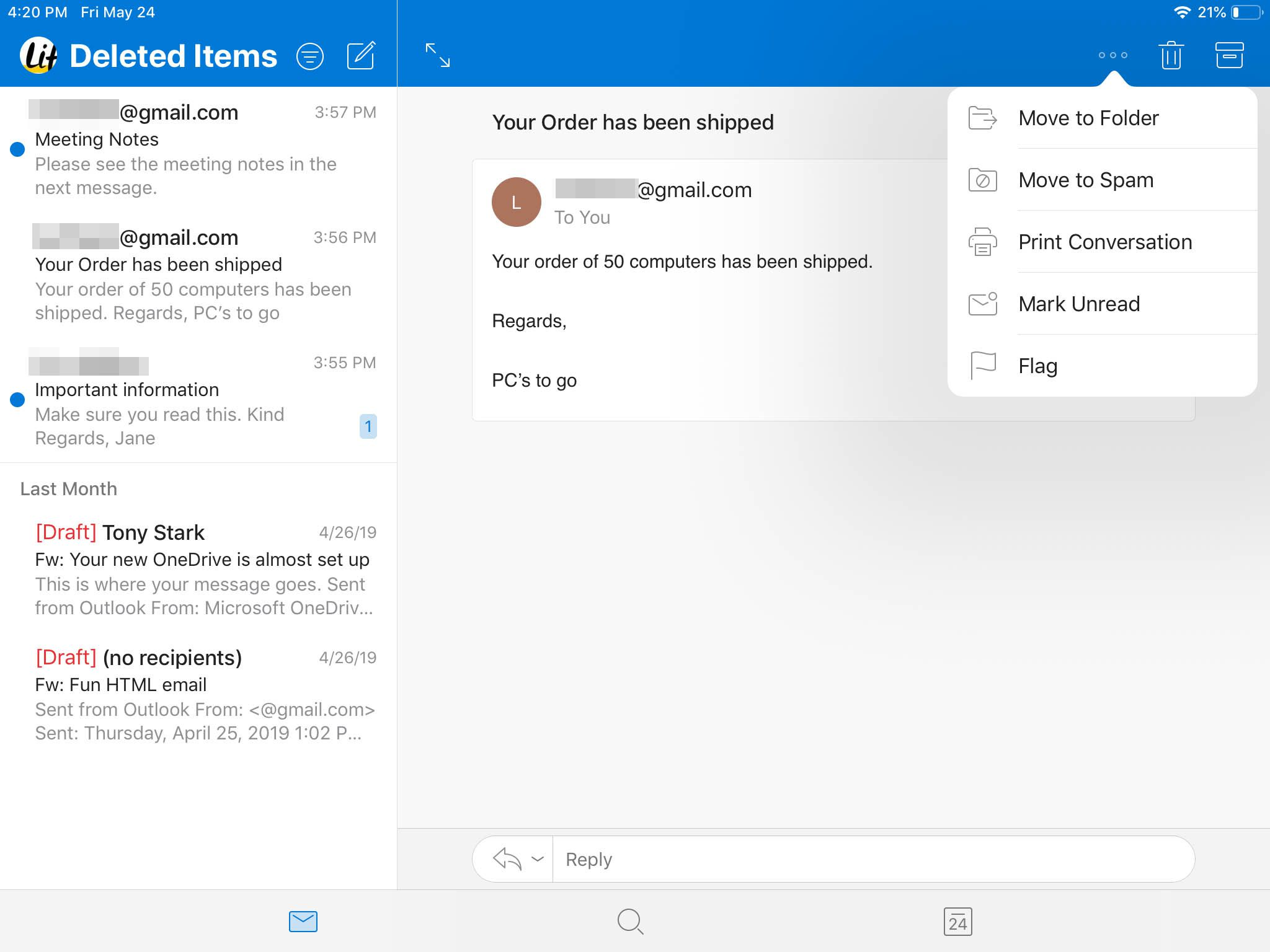 How To Delete Emails In Outlook For Ios