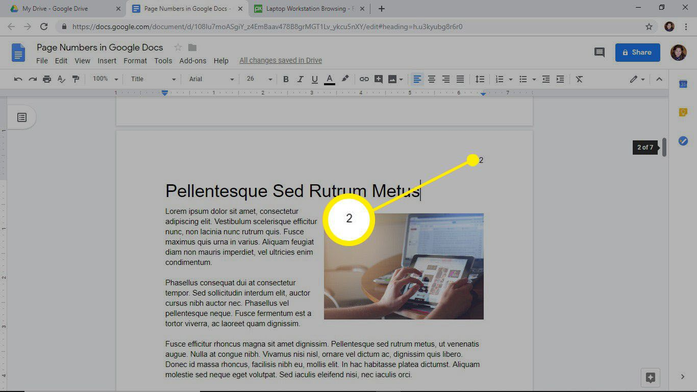 How To Add Page Numbers In Google Docs Add dates, titles, or names to every page in a document using headers and footers. how to add page numbers in google docs