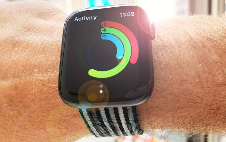 Apple Watch on a wrist