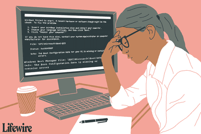Frustrated person facing a computer with a Boot Manager error on its screen
