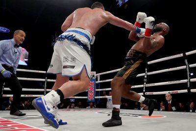 Joseph Parker knocks out Shawndell Winters in in fifth round of their Heavyweight bout at The Ford Center