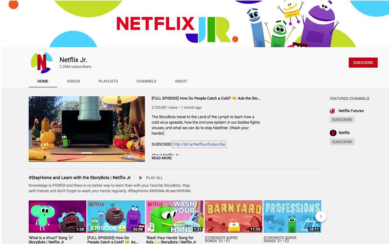 Kênh YouTube giáo dục Netflix Jr.