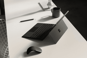 The Microsoft Surface Pro 6 on a table