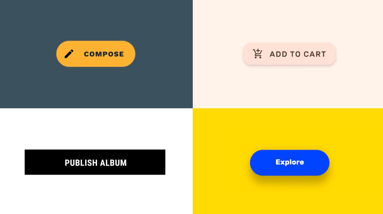 Google app button design