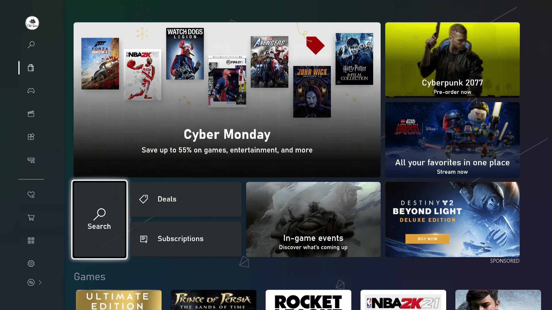 The store on Xbox Series X S.