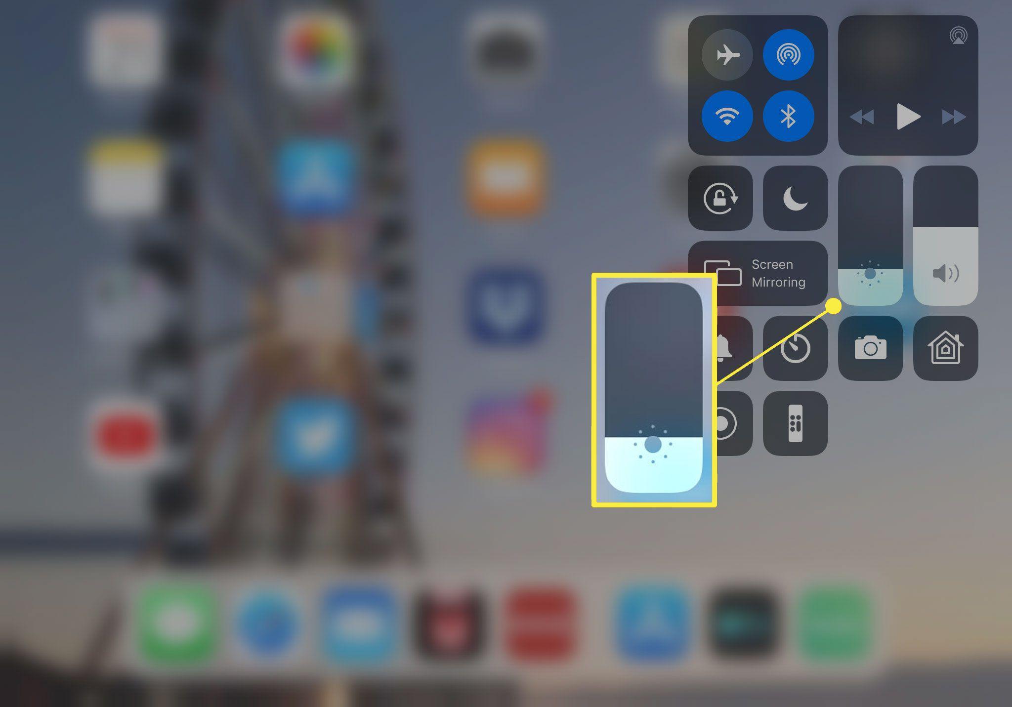 How to adjust iPad brightness