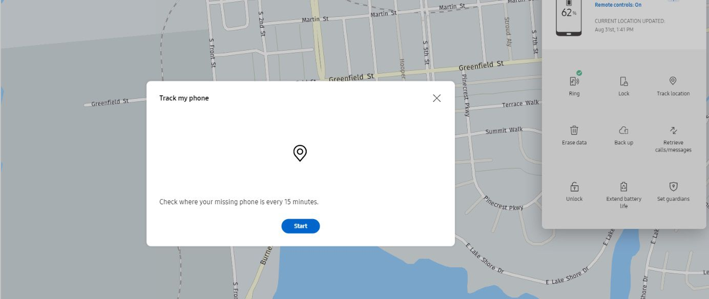 Samsung's find my mobile will track your phone ever 15 minutes