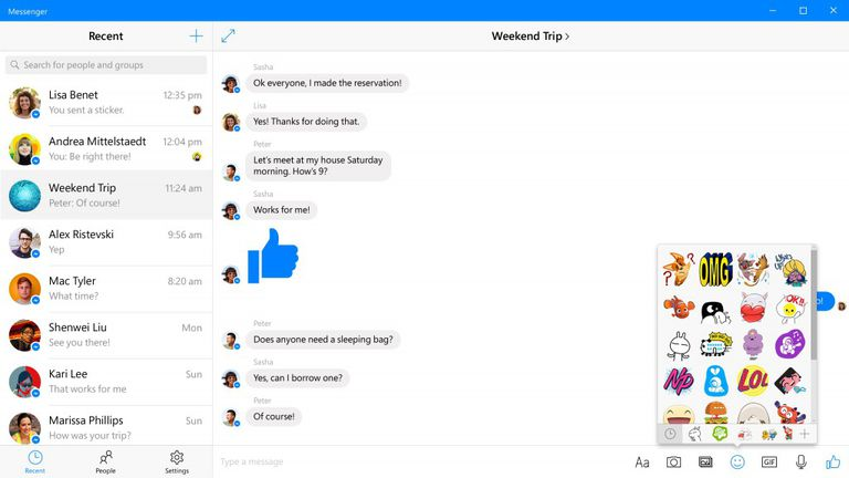 Facebook Messenger for Windows 10