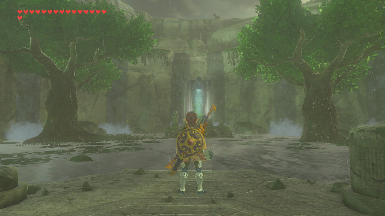Finding Slumbering Power memory in The Legend of Zelda: Breath of the Wild.