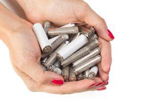 Batteries in hands