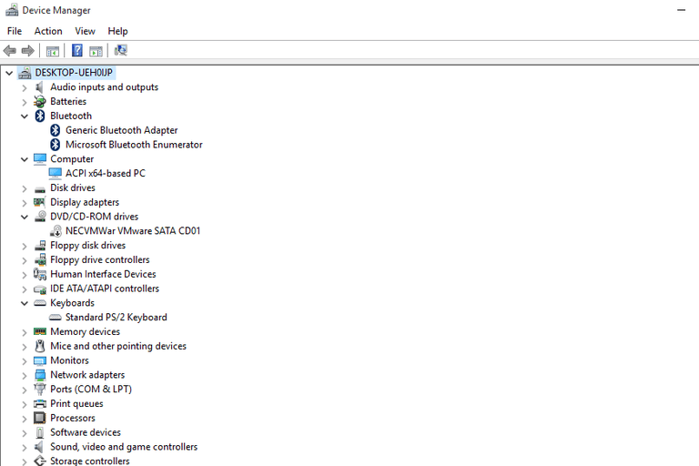 Screenshot of Device Manager in Windows 10