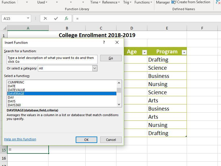 How to Create an Excel Database