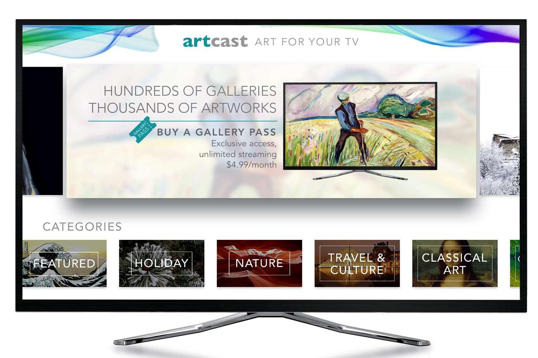The Artcast Lite Menu - Apple TV Version