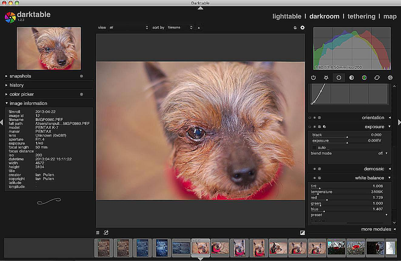 Darktable – Free OS X and Linux RAW Photo Converter