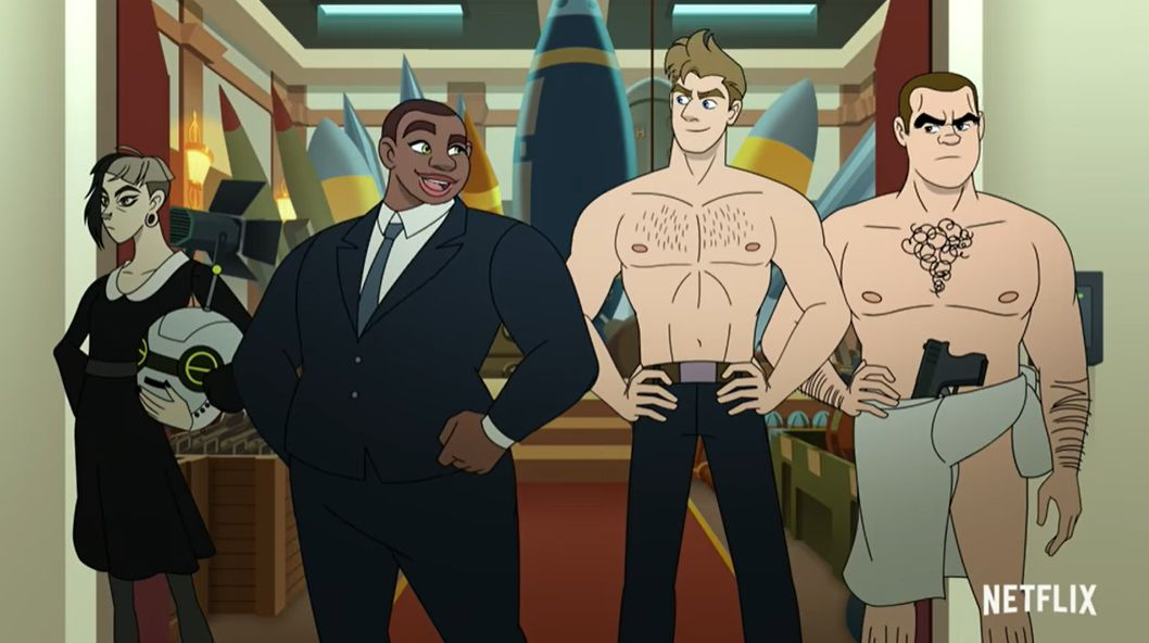 The cast of the animated comedy 'Q-Force'