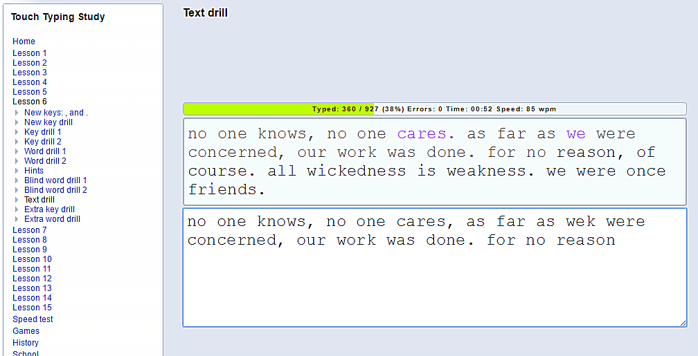 easy typing paragraph