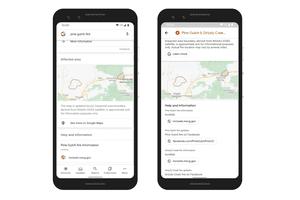 Google Maps Wildfire boundary map