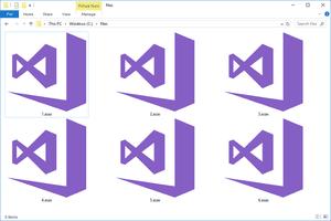 Screenshot of several ASAX files in Windows 10