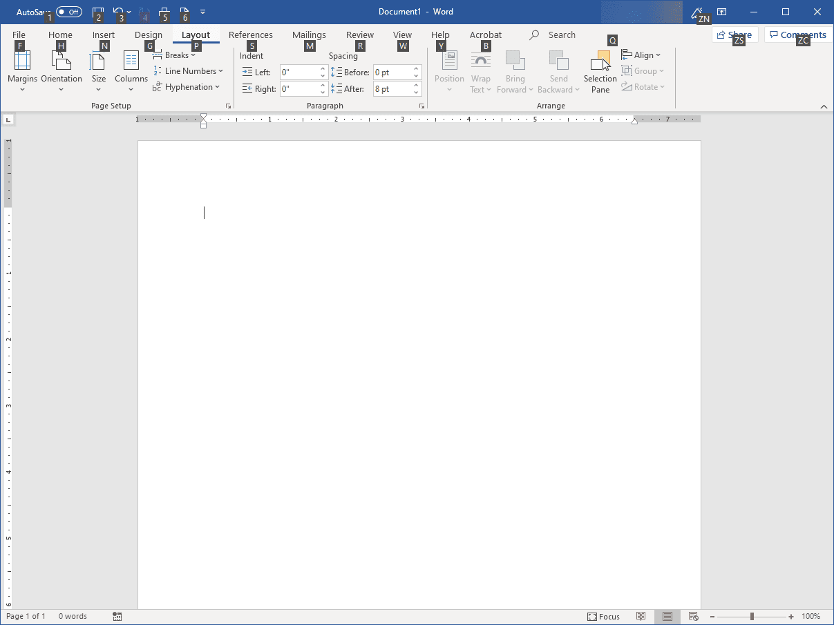 Frequently Used Microsoft Word Shortcuts