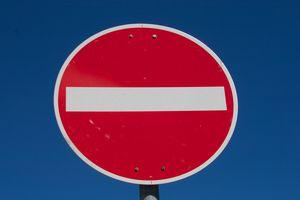 Road sign: No Entry!