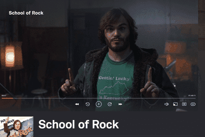Screenshot of the School of Rock free movie on Tubi