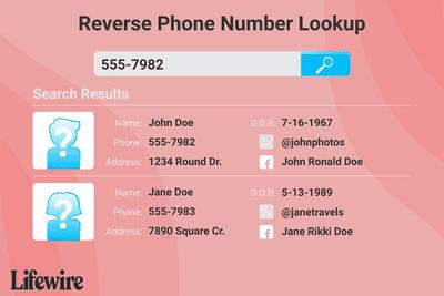 Illustration showing reverse phone number lookup for number 555-7982