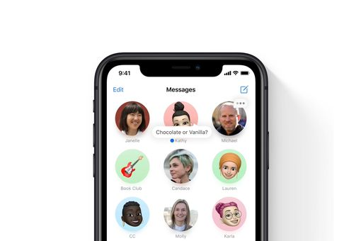 A photo of the iOS Message app open with pinned messages shown.