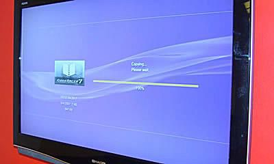 Copy the old PS3 contents to the USB drive.