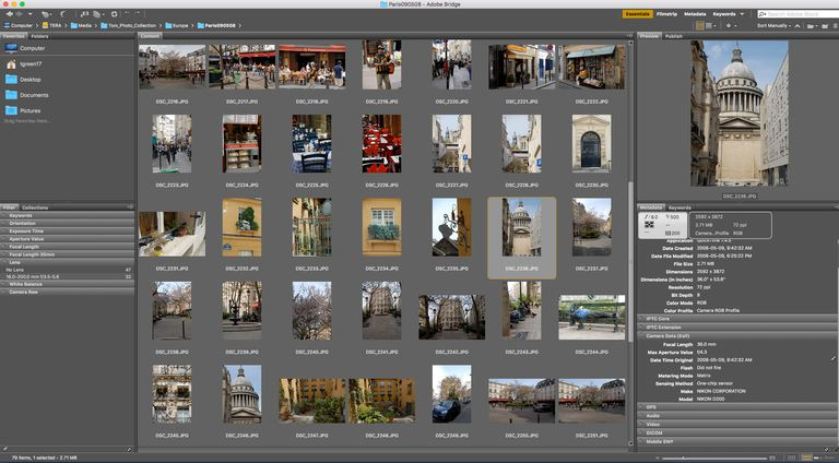The Adobe Bridge interface is shown.