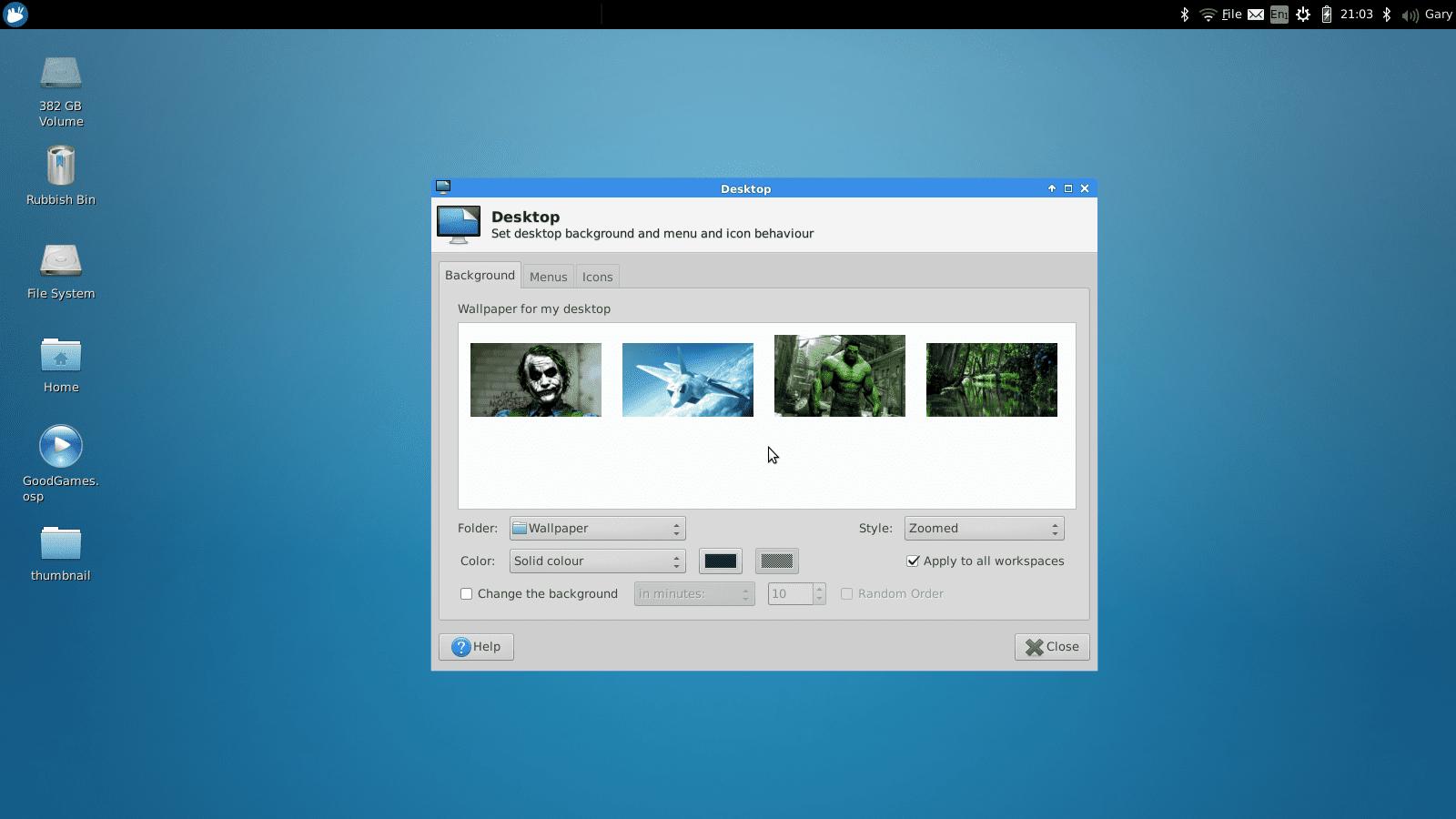 Change The Desktop Wallpaper Within Xfce