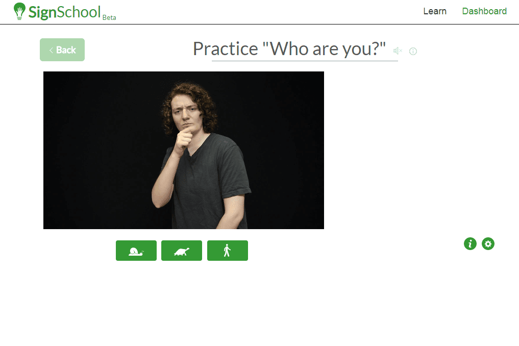 SignSchool beginner's video lesson