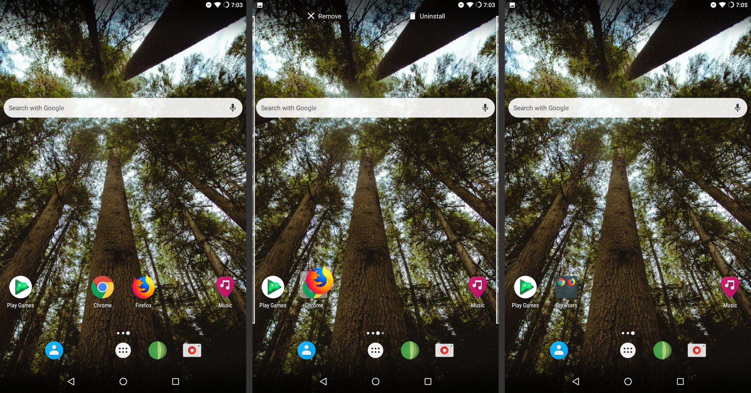 Android create app folder