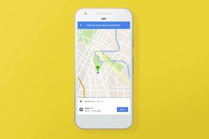 Uber via Google Maps