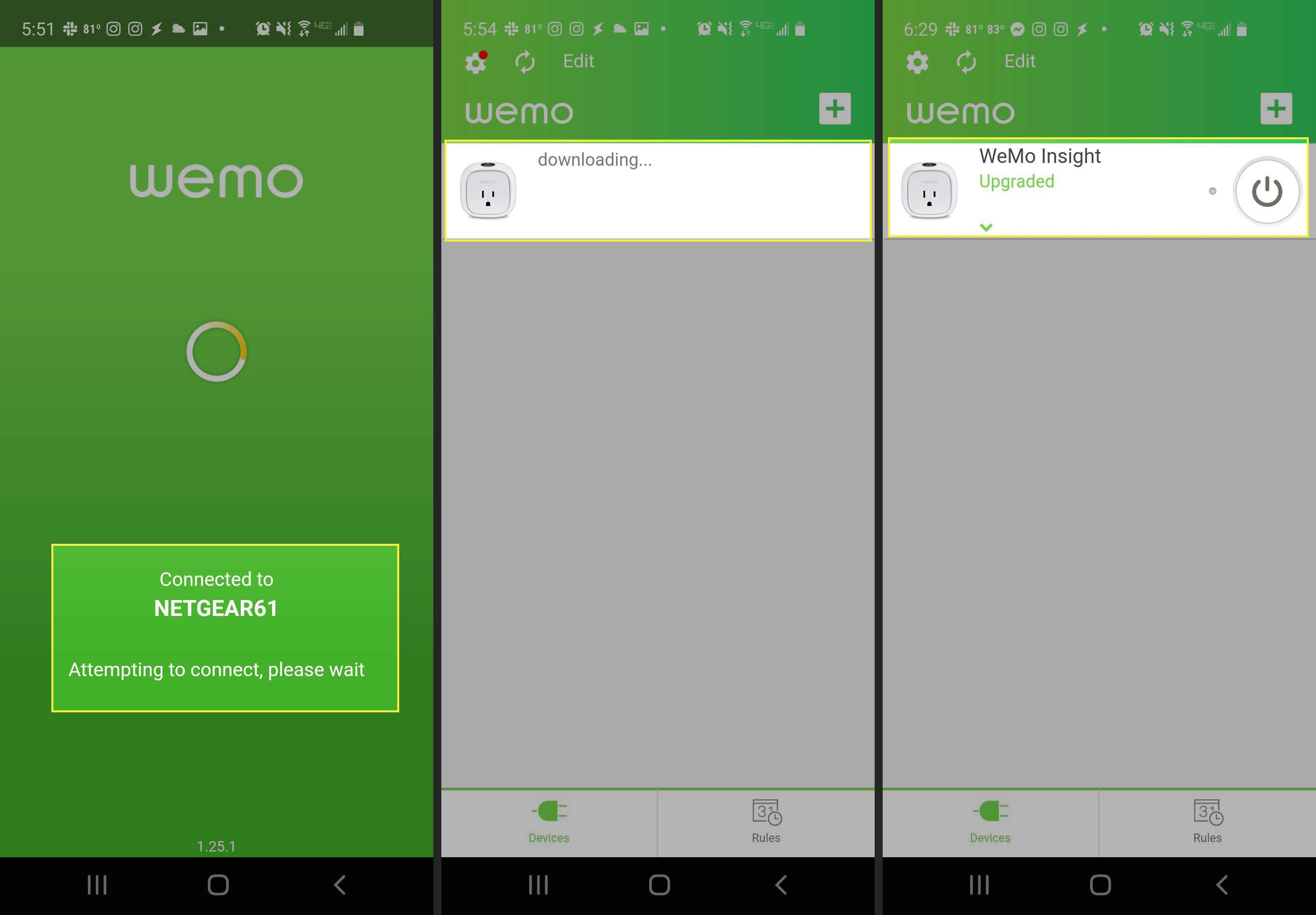 Final steps to get your smart plug onto your network in WeMo app