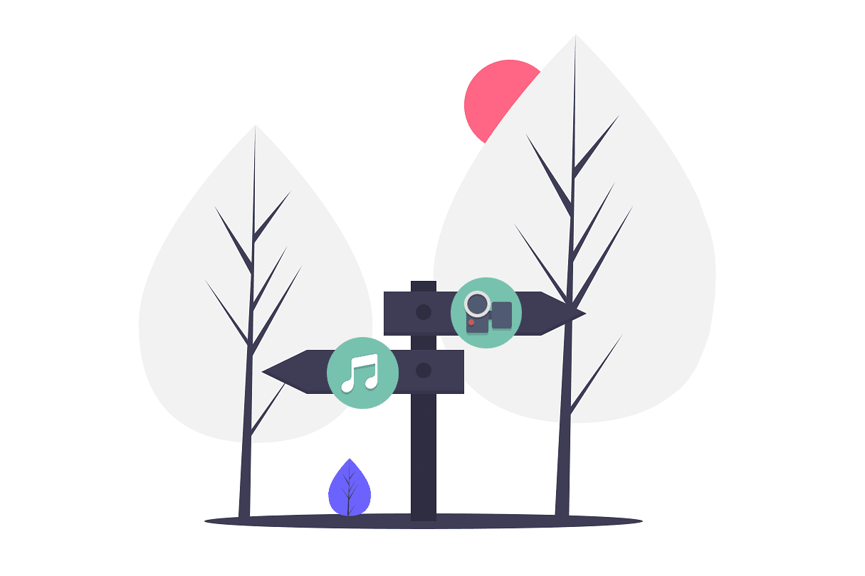 Two search engine paths illustration