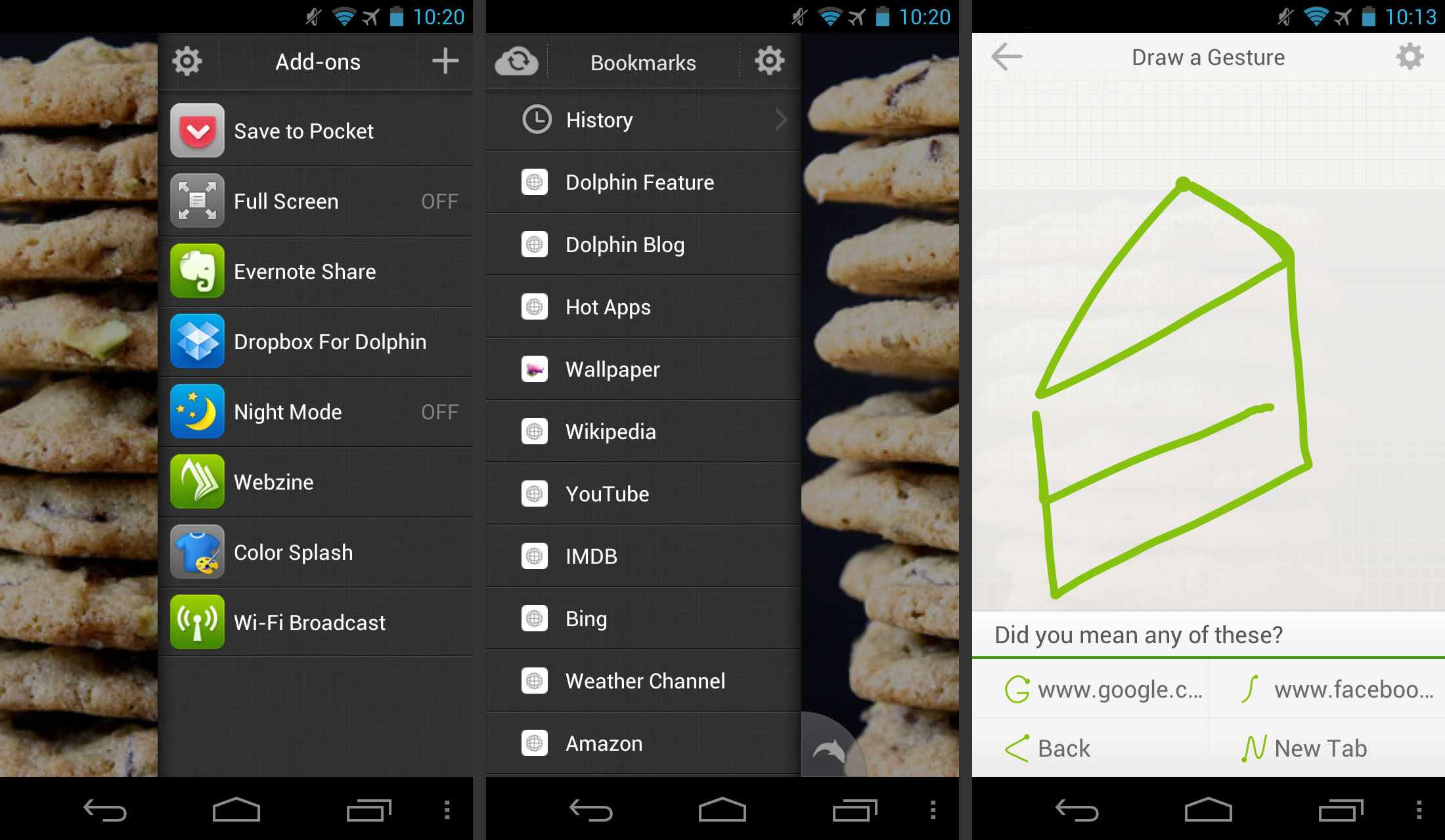 Screenshots of Dolphin Browser