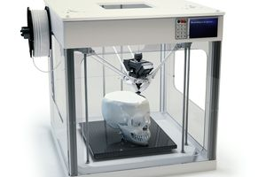 3D Printer Printing Skull
