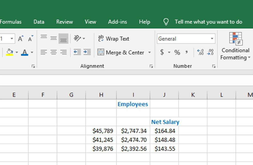 Formatting Numbers in Excel Using Shortcut Keys