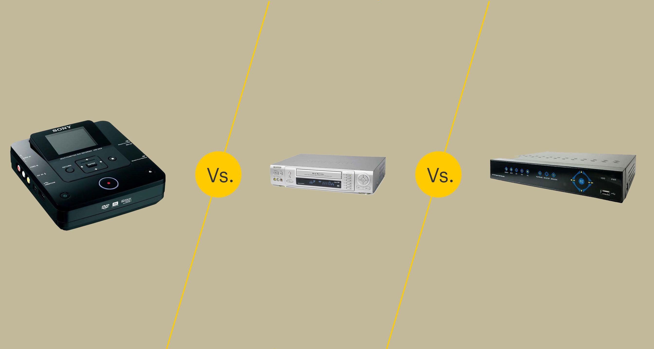 DVD Recorder vs. VCR vs. DVR