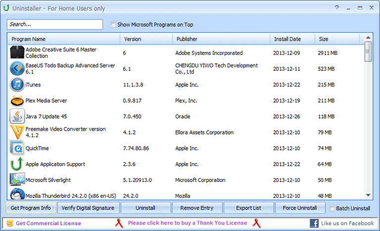 Puran Uninstaller v3.0 in Windows
