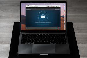 Xfinity Speed test website on MacBook Pro screen
