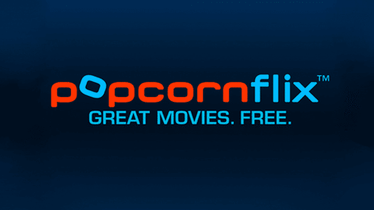 Screenshot of the Popcornflix logo