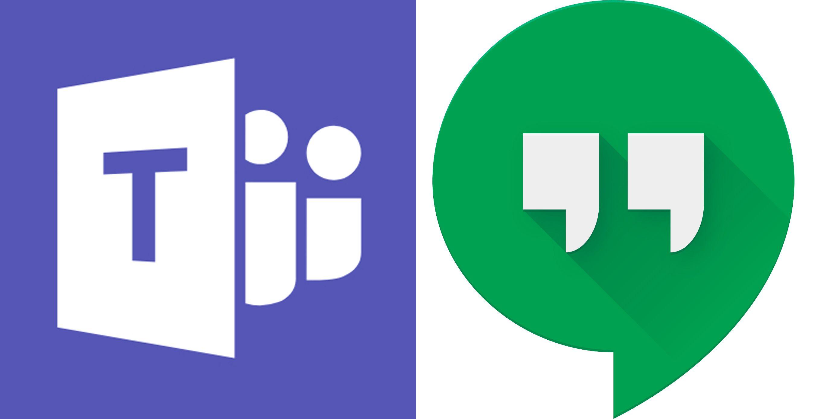 Teams and Hangouts logos