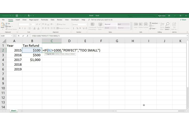How to Use the IF-THEN Function in Excel