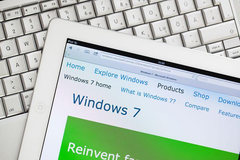 Windows 7 website on Apple ipad2