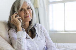 Woman enjoying a phone conversation