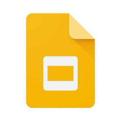 Google Slides logo.