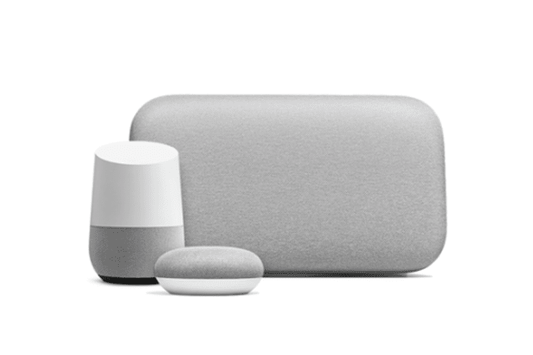 Picture of three Google Home devices
