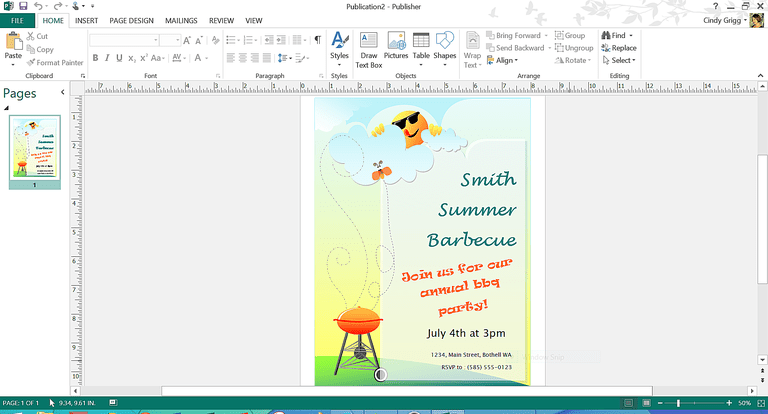 Free summer themed templates from microsoft printable summer bbq flyer or invitation template for microsoft publisher stopboris Images